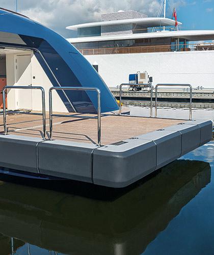 Custom Yacht Transom Fenders Megafend Mooring Products
